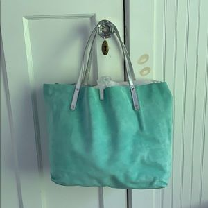 Brand New Tiffany's Reversible Suede Pocketbook